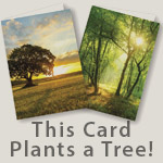 This card plants a tree!