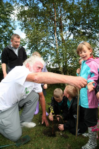Tree Appeal Planting Day At Toft Hill Primary School